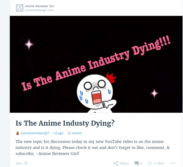 anime industry dying