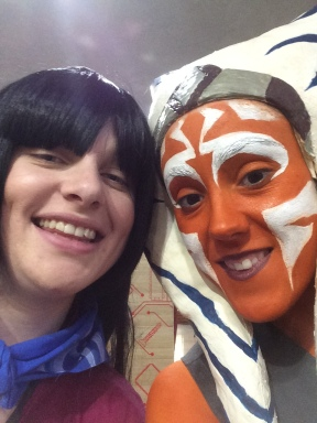 Me and my friend (she is from stars wars can't remember the character's name)