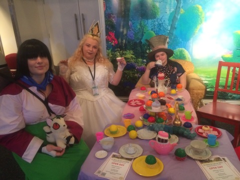 Sango joined the mad hatter tea party lol