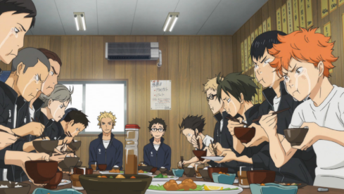 haikyuu-episode-24-karasuno-team-meal