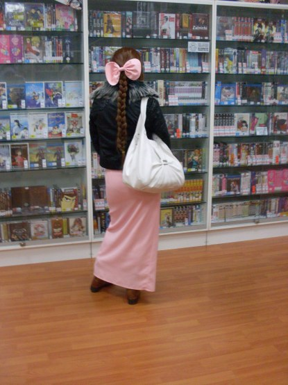 Aerith checking out the goods